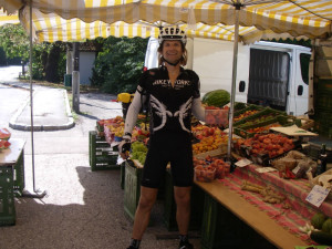Fresh fruit stand in Austria